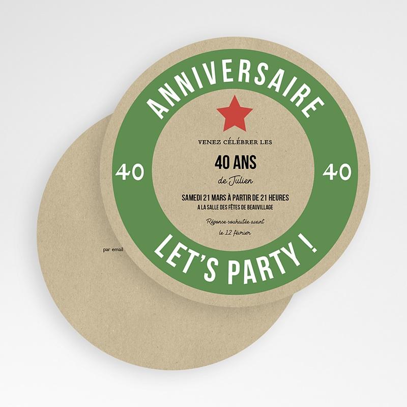 Carte invitation anniversaire 40 ans Bière Allemande gratuit