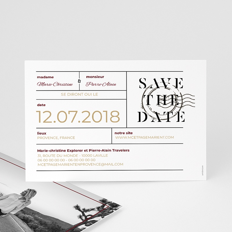 Save The Date Mariage Wedding Pass