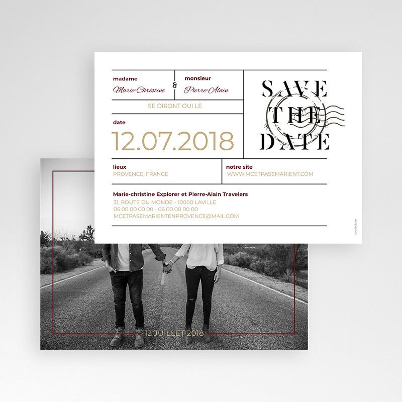 Save The Date Mariage Wedding Pass pas cher