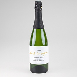 Etiquette bouteille mariage Vin Marinière or bleu