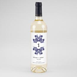 Étiquette bouteille mariage Vin Bleu Ottoman