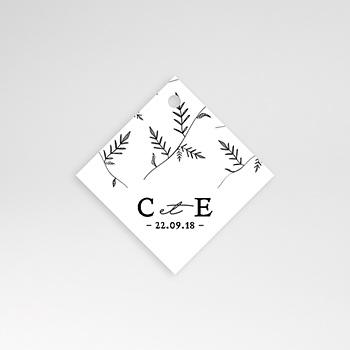 Etiquette mariage - Kraft et Brindilles - 0