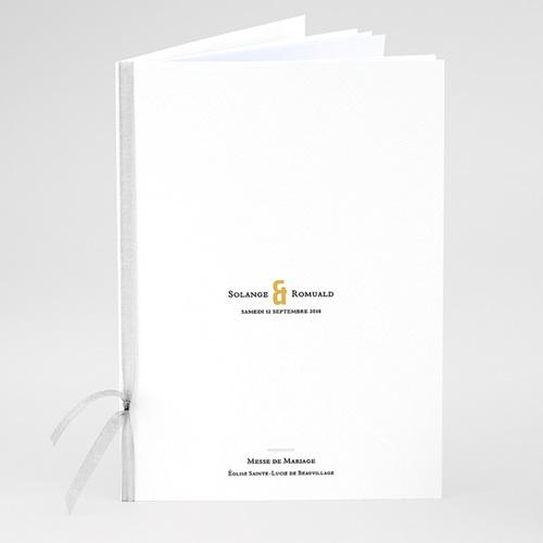 Livret Messe Mariage Photo & Typo