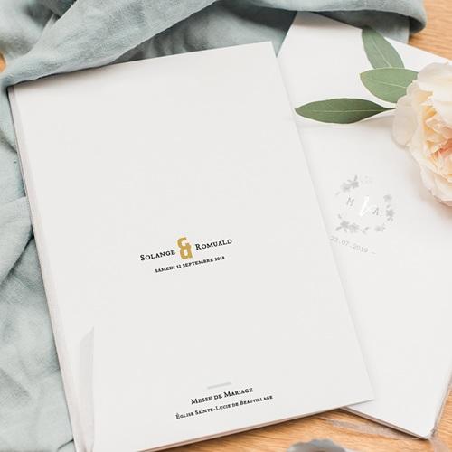 Livret Messe Mariage Photo & Typo pas cher