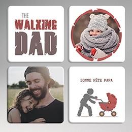 Dessous de Verre Fête des pères Walking Dad Cheers