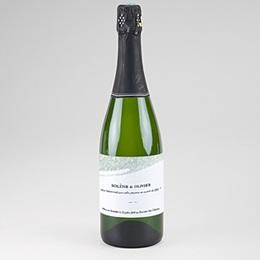 Etiquette bouteille mariage Champagne Moisson de printemps