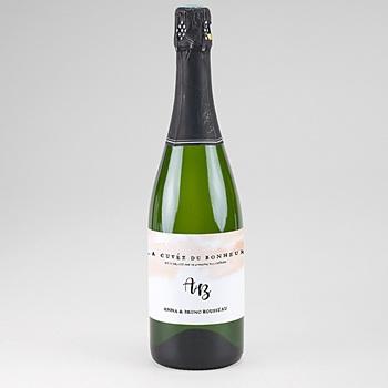 Etiquette bouteille champagne Aquarello