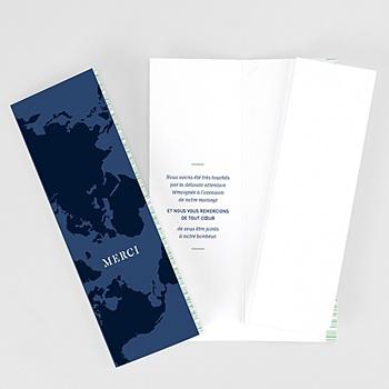 Remerciement mariage voyage - Blue Wedding Pass - 0