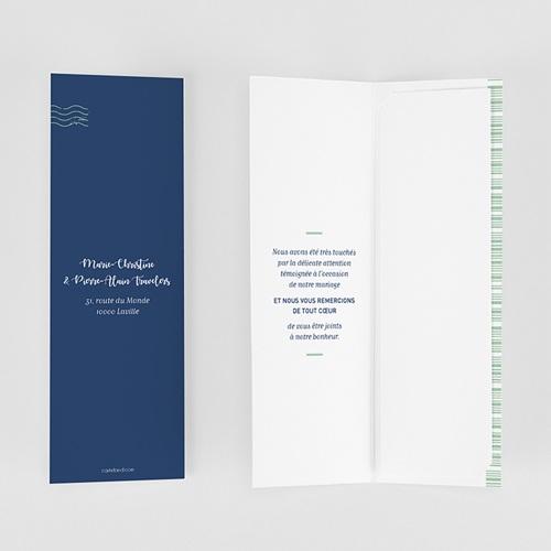Carte remerciement mariage voyage Blue Wedding Pass gratuit