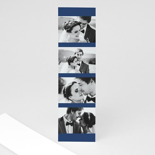 Carte remerciement mariage voyage Blue Wedding Pass