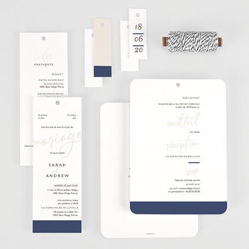 Faire-Part Mariage Blue Color Touch gratuit