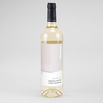 Etiquette bouteille mariage rose quartz pas cher