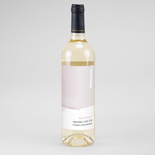 Etiquette Bouteille Mariage Rose quartz