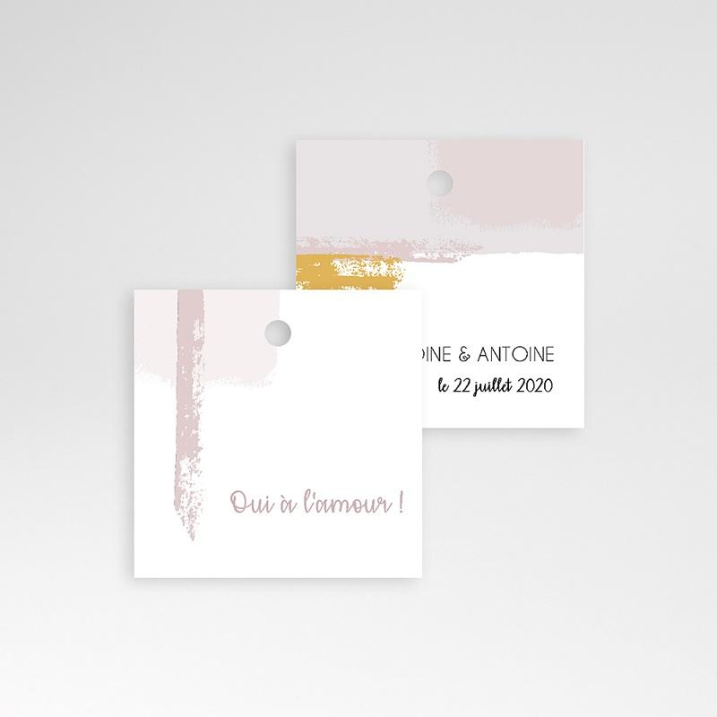 Etiquette Cadeau Mariage Rose quartz pas cher