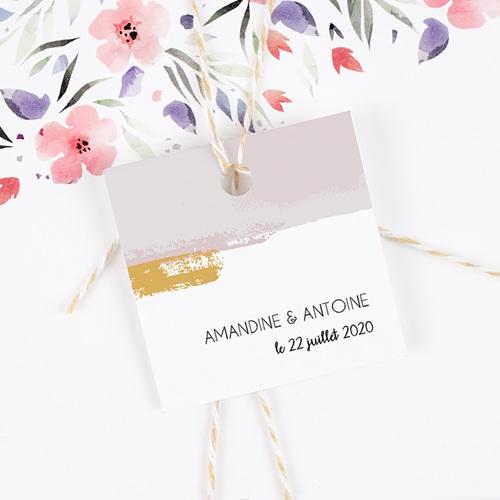 Etiquette Cadeau Mariage Rose quartz gratuit