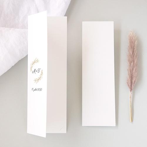 Carte Remerciement Mariage Chic Minimaliste Végétal