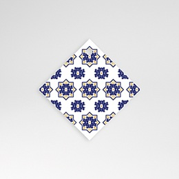 Etiquette Mariage Bleu Ottoman