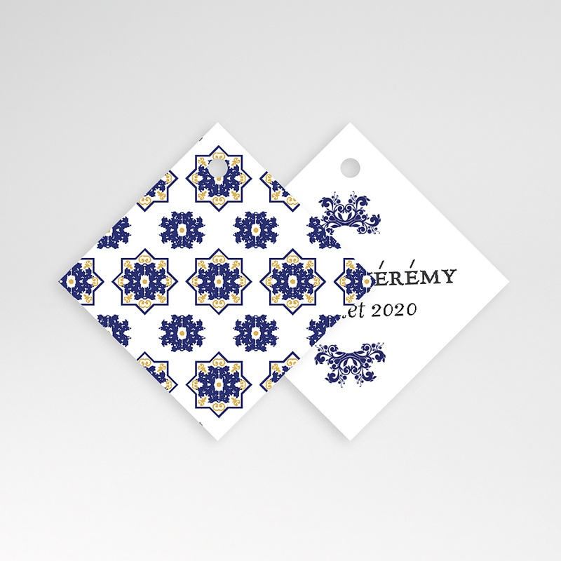 Etiquette mariage Bleu Ottoman pas cher