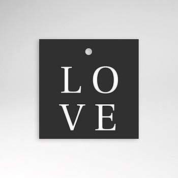 Etiquette mariage Carré Typographique personnalisable