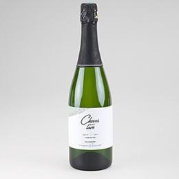 Étiquette bouteille mariage Vert & Doré