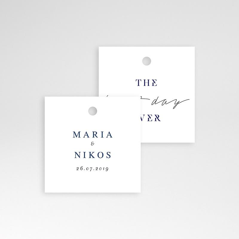 Etiquette Cadeau Mariage Bleu Grec pas cher