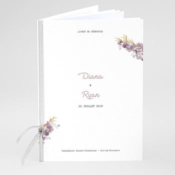 Livrets de Messe Mariage - Vintage Chic Rose - 0