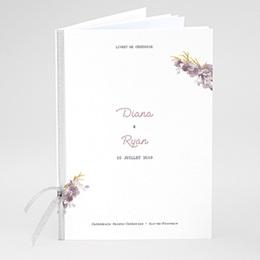 Livret messe mariage Vintage Chic Rose
