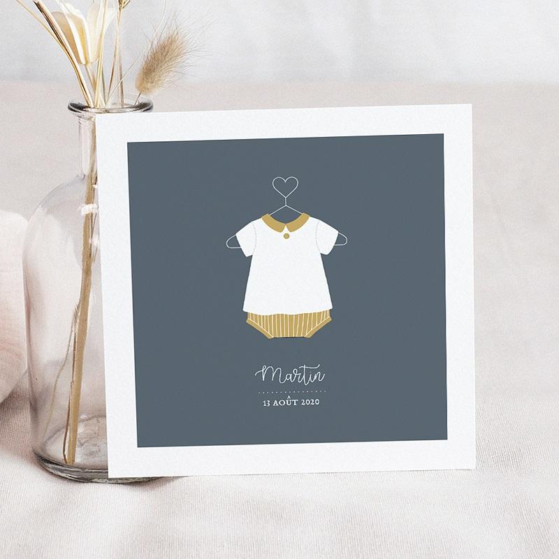 Faire-part naissance garçon Culotte courte