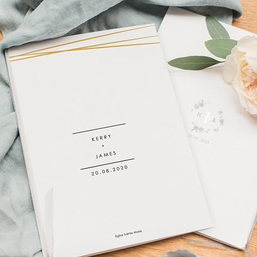 Livret messe mariage Minimal Chic pas cher
