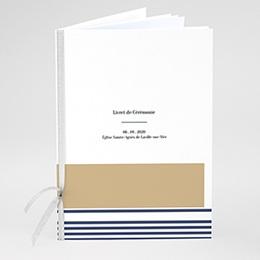 Livret messe mariage Marinière or bleu