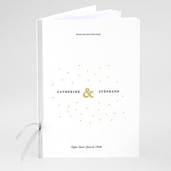 Livret messe mariage Touches d'or à personnaliser