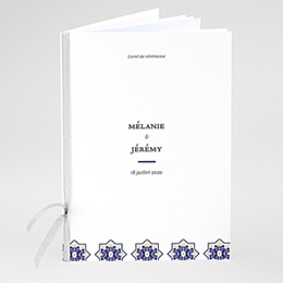 Livret messe mariage Bleu Ottoman