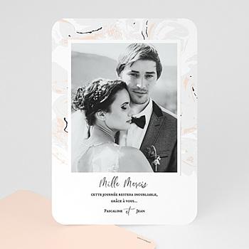 Carte remerciement mariage photo marbre forever pas cher