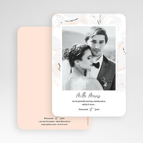 Carte Remerciement Mariage Photo Marbre Forever gratuit