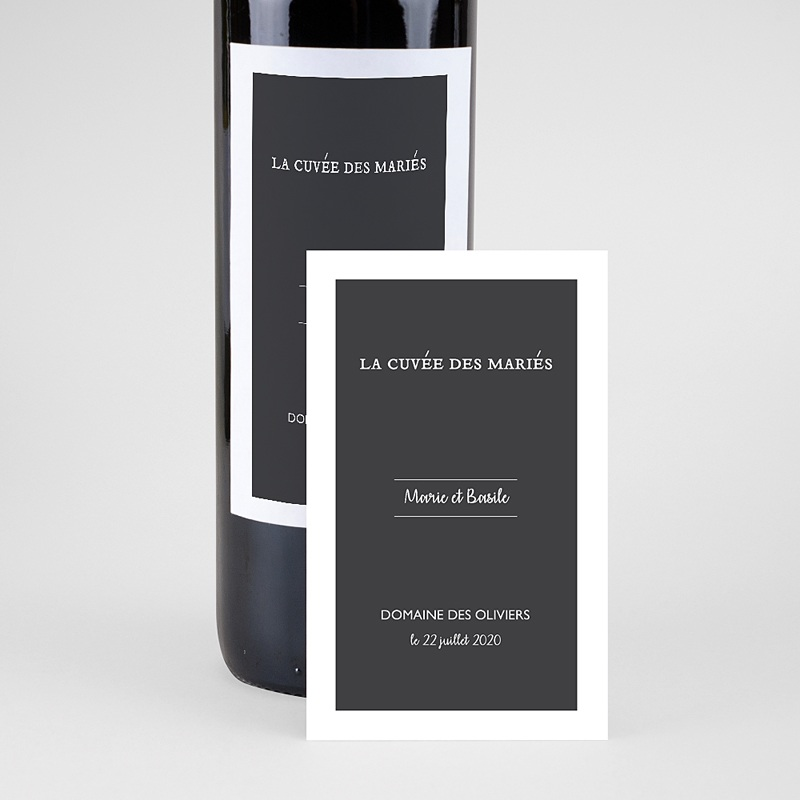 Étiquette bouteille mariage - Moisson d'Automne 62499 thumb