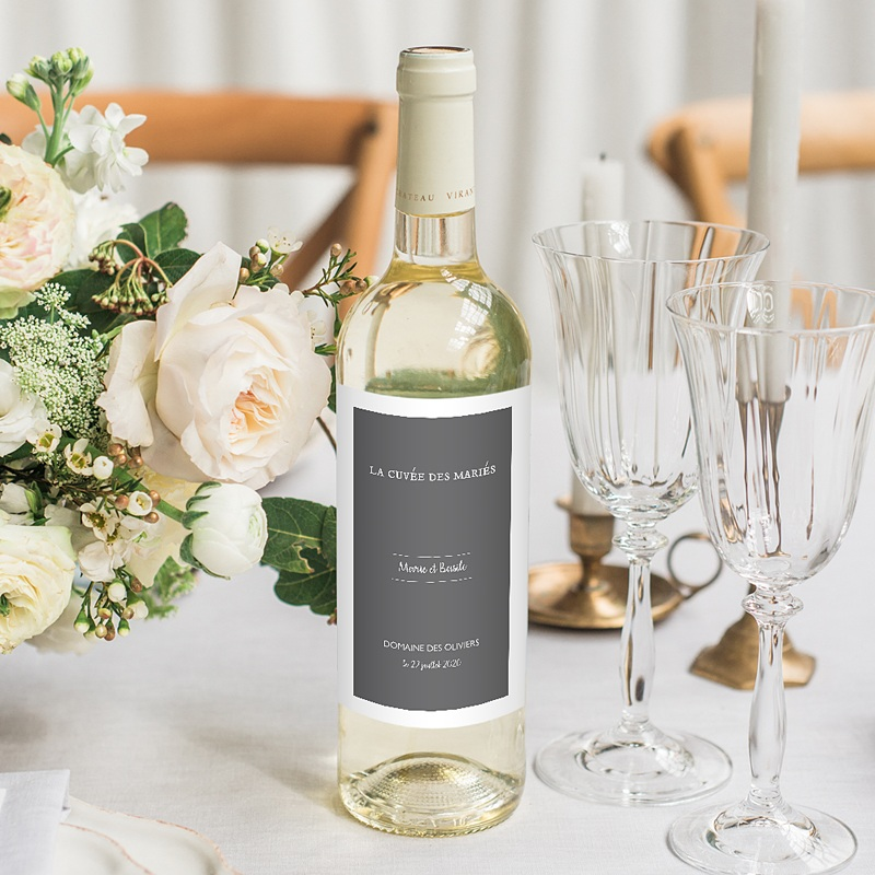 Étiquette bouteille mariage - Moisson d'Automne 62501 thumb