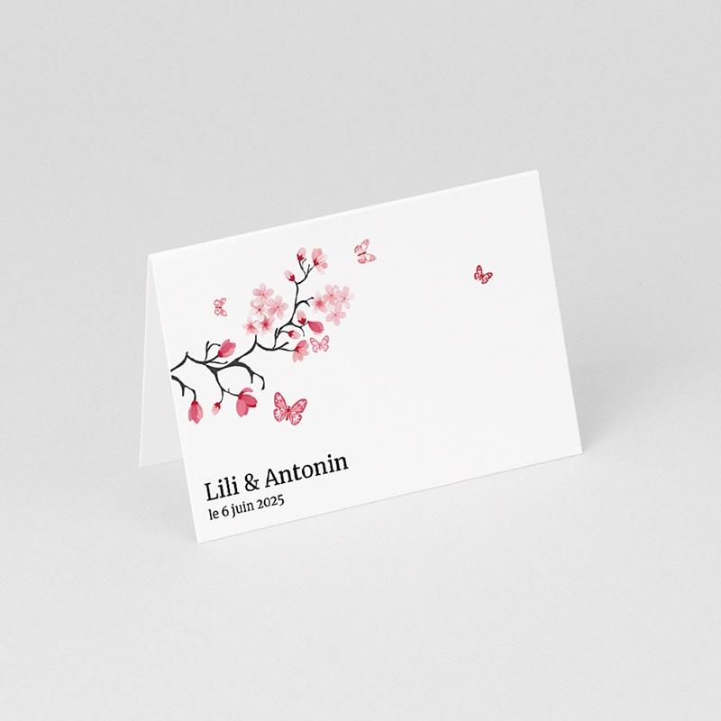 Marque Place Mariage Personnalisés Papillons d'amour gratuit