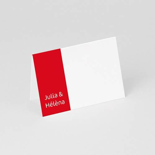 Marque Place Mariage Personnalisés Les Filles - Bandeau Rouge gratuit