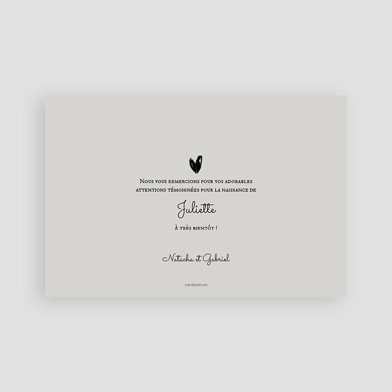 Remerciements Naissance Fille - Coeurs en or 62693 thumb