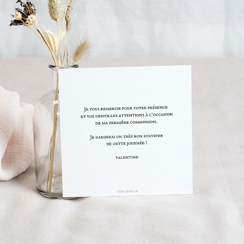 Carte Remerciement Communion Fille Love Jesus, 10 cm x 10 cm pas cher