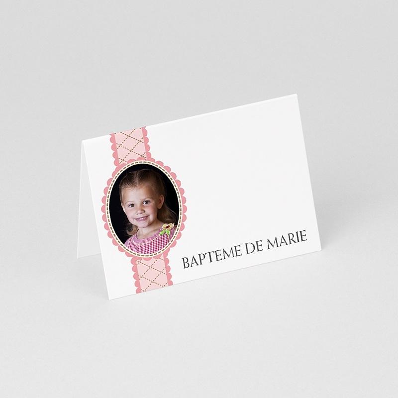 Marque Place Baptême Mon médaillon - rose gratuit
