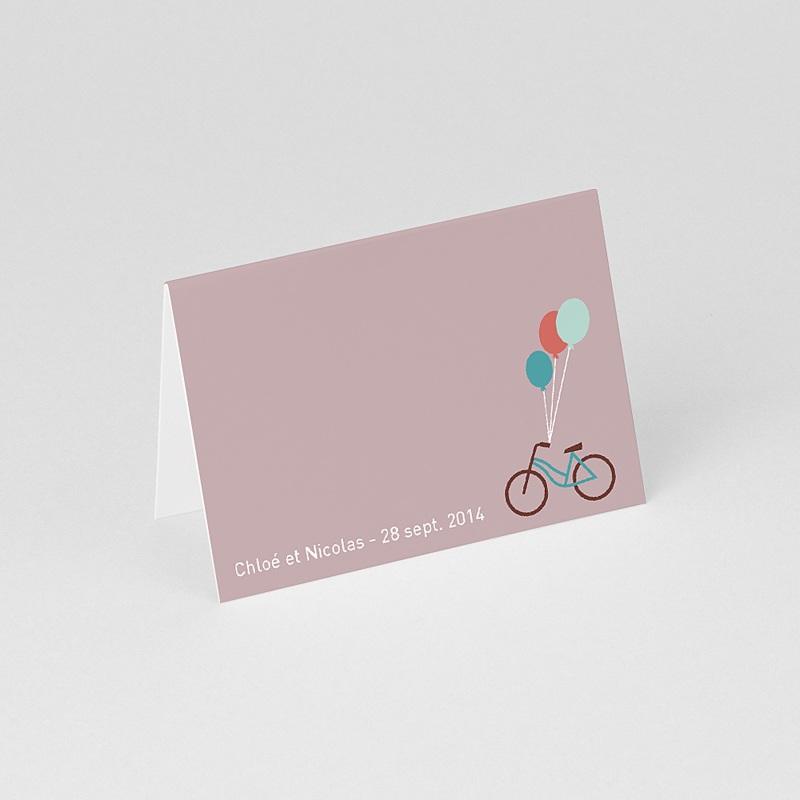 Marque Place Mariage Personnalisés A bicyclette gratuit