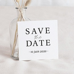 Save the date Mariage Carré Typographique