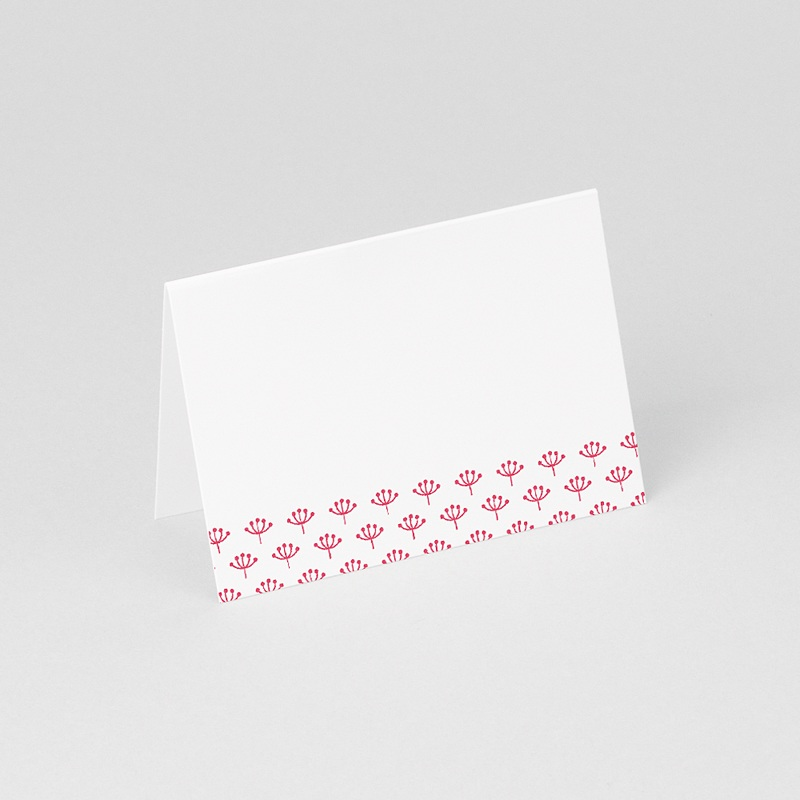 Marque Place Mariage Personnalisés Fleurs framboise gratuit
