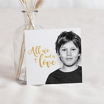 Carte remerciement communion photo