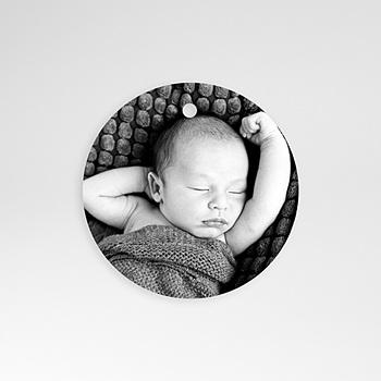Achat etiquette naissance anémone vintage