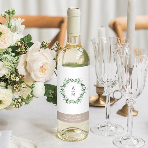 Etiquette bouteille mariage Nature en fête