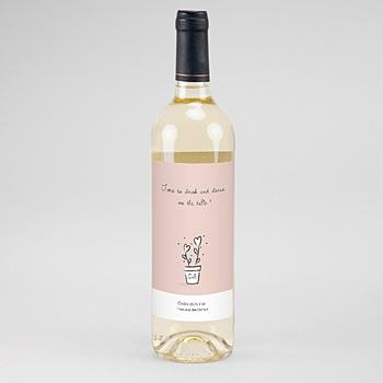Étiquette bouteille mariage - 2 coeurs - 0