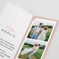 Carte remerciement mariage original 2 coeurs pas cher