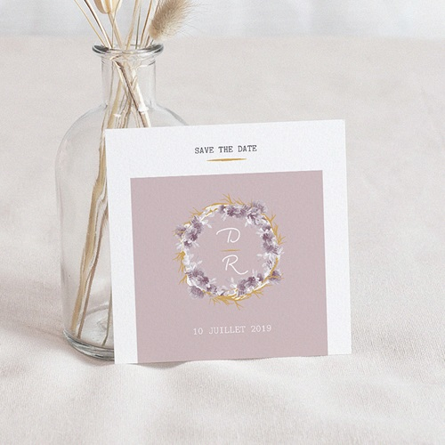 Save The Date Mariage Vintage Chic Rose